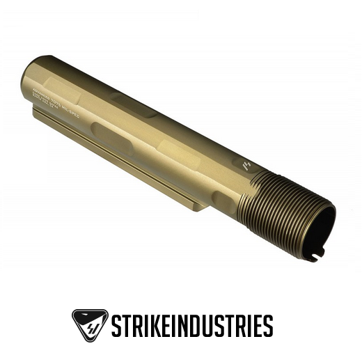 Strike Industries Advanced Receiver Extension Mil-Spec Buffer Tube 7 position 7075-T6 SI-AR-ARE-T7-FDE Flat Dark Earth AR15 M4