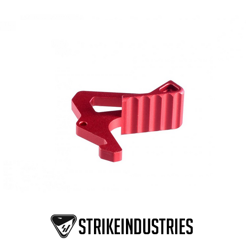 Strike Industries Charging Handle Extended Latch Red SI-AR-LATCH-RED AR-15 / M4 / AR-10 / SR-25 / LR-308