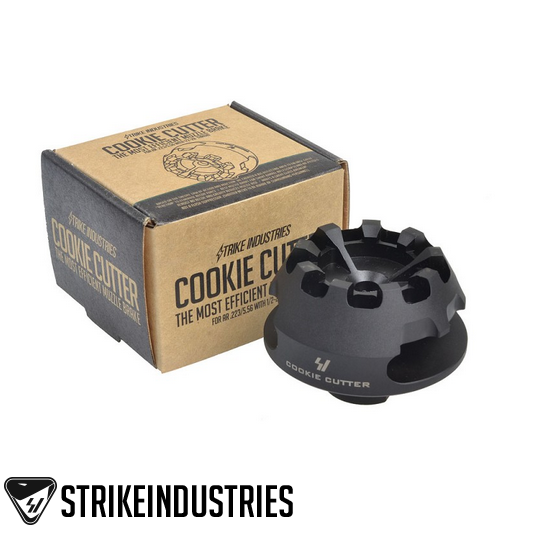 Strike Industries Cookie Cutter Comp (includes crush washer) SI-CC-COMP-223 1/2x28 Thread .223 5.56 AR-15 M4 M16