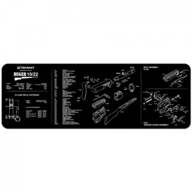 "TekMat Ruger 10/22 Rifle Gun Cleaning Mat 12"" x 36"" Black 36-1022"