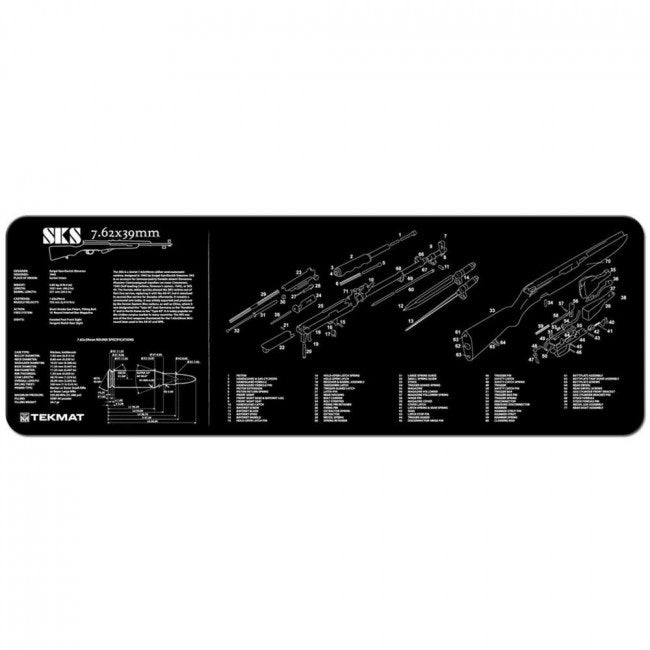 "TekMat SKS Rifle Gun Cleaning Mat 12"" x 36"" Black 36-SKS"