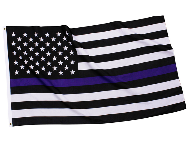Thin Blue Line Police U.S. Flag Polyester 3' x 5'