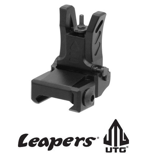 UTG Leapers MNT-755 New Gen Super Slim Low Profile Flip-up Front Sight for Same Level Plane Applications Black Anodize Aluminum