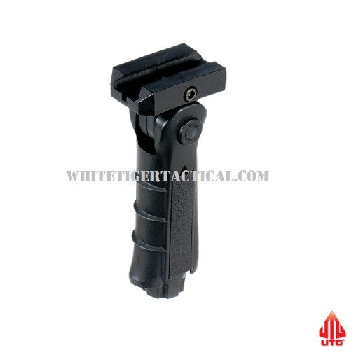 UTG Leapers RB-FGRP170B Ambidextrous 5-position Foldable Rail Vertical Forend Grip Foregrip 1913 Picatinny BLACK