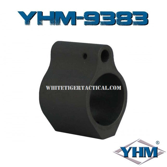 "Yankee Hill Machine YHM-9383 Low Profile Set Screw Style Steel Gas Block for .750"" Barrel AR15 / M4 / AR-10 / SR25 / LR-308"