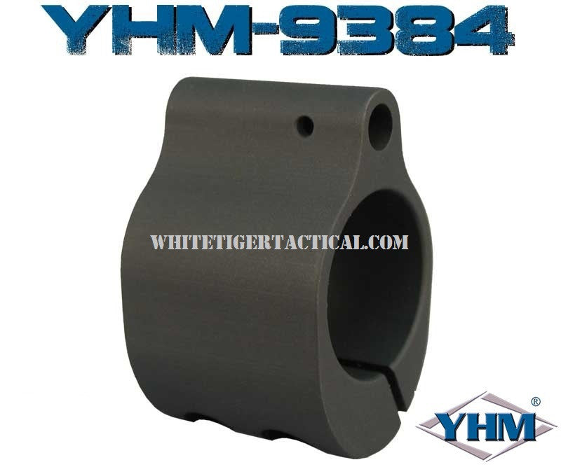 "Yankee Hill Machine YHM-9384 Low Profile Clamp On (Pinch Screw) Style Steel Gas Block for .750"" Barrel AR15 / M4 / AR-10 / SR25 / LR-308"
