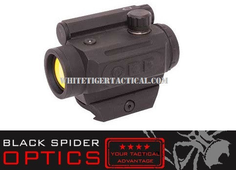 Black Spider Optics M0129-LOW Micro Red Dot 3 MOA Low Mount AAA Battery Matte Black Finish