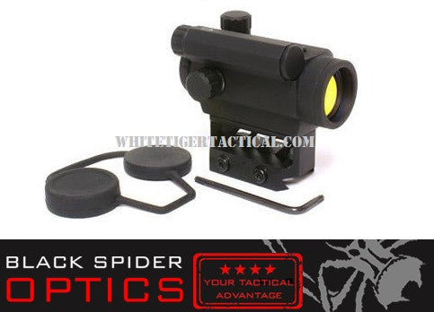 Black Spider Optics M0129 Micro Red Dot 3 MOA Lower 1/3 Co-Witness Mount AAA Battery Matte Black Finish