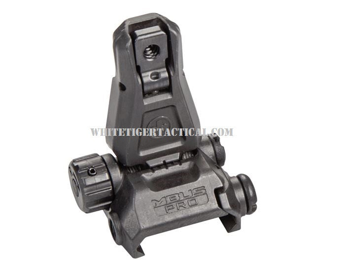 Magpul MAG276-BLK MBUS Pro Rear Back-Up Flip-Up Sight Steel Black MAG276