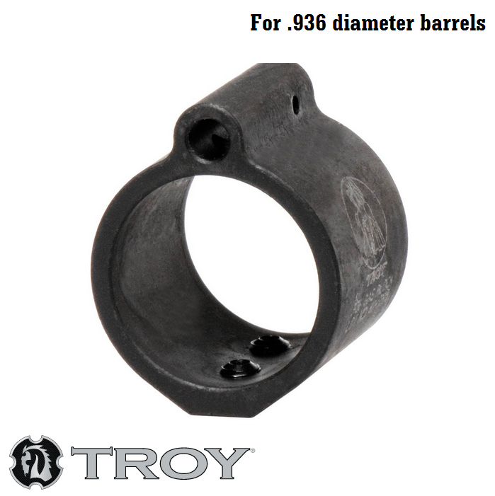 "Troy Industries Low Profile Set Screw Style Steel Gas Block for .936"" Barrel SGAS-936-00BT-00 AR15 / M4 / M16 / AR-10 / SR25 / LR-308"