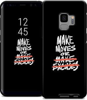 'Make Moves' Samsung Case - Black