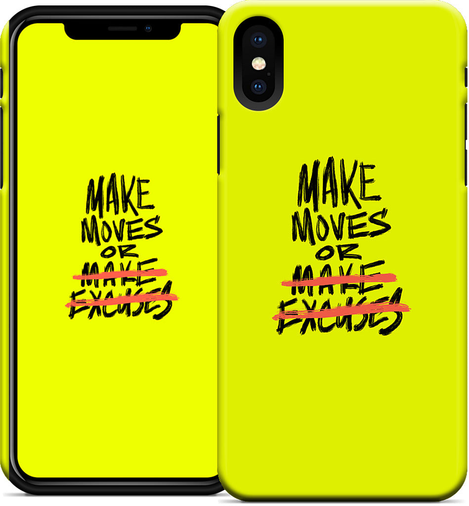 'Make Moves' iPhone Case - White