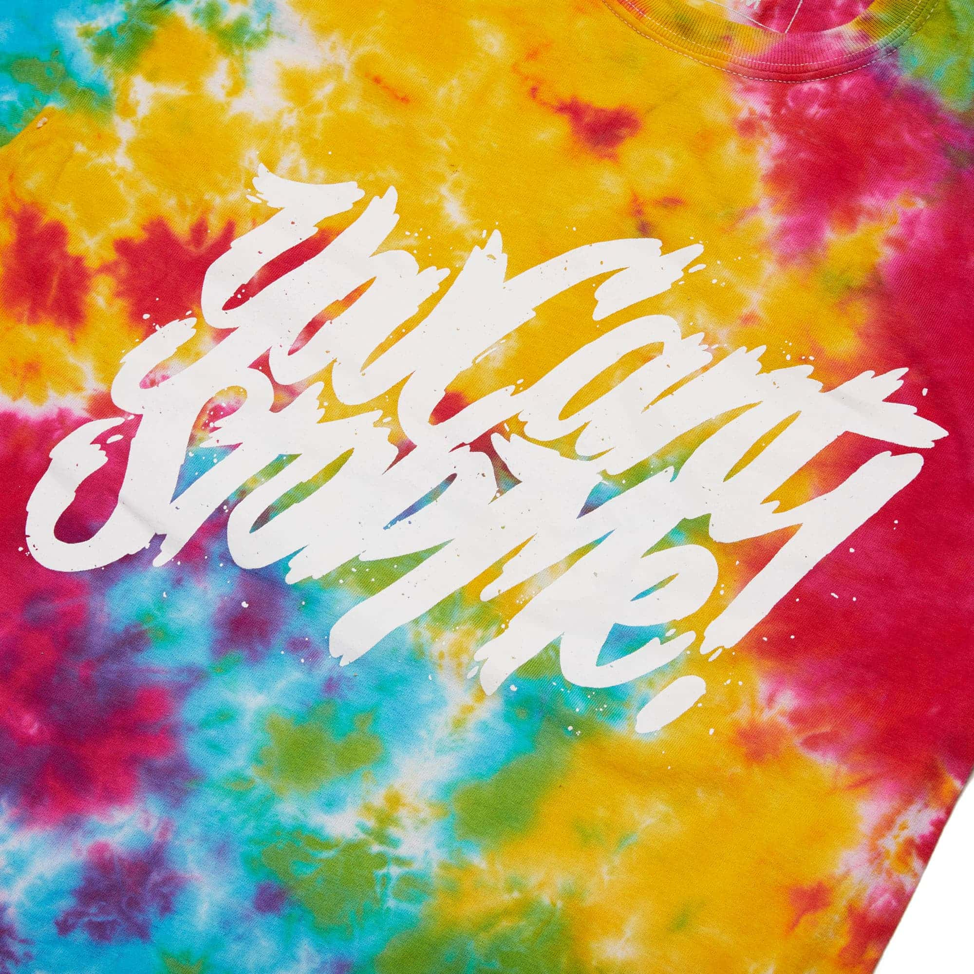 'You Can't Stop Me' Multi Rainbow Tie Dye Tee
