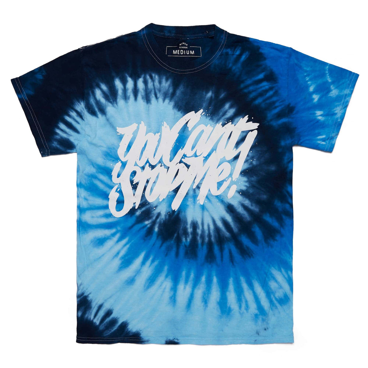 'You Can't Stop Me' Spider Royal Tie Dye Tee