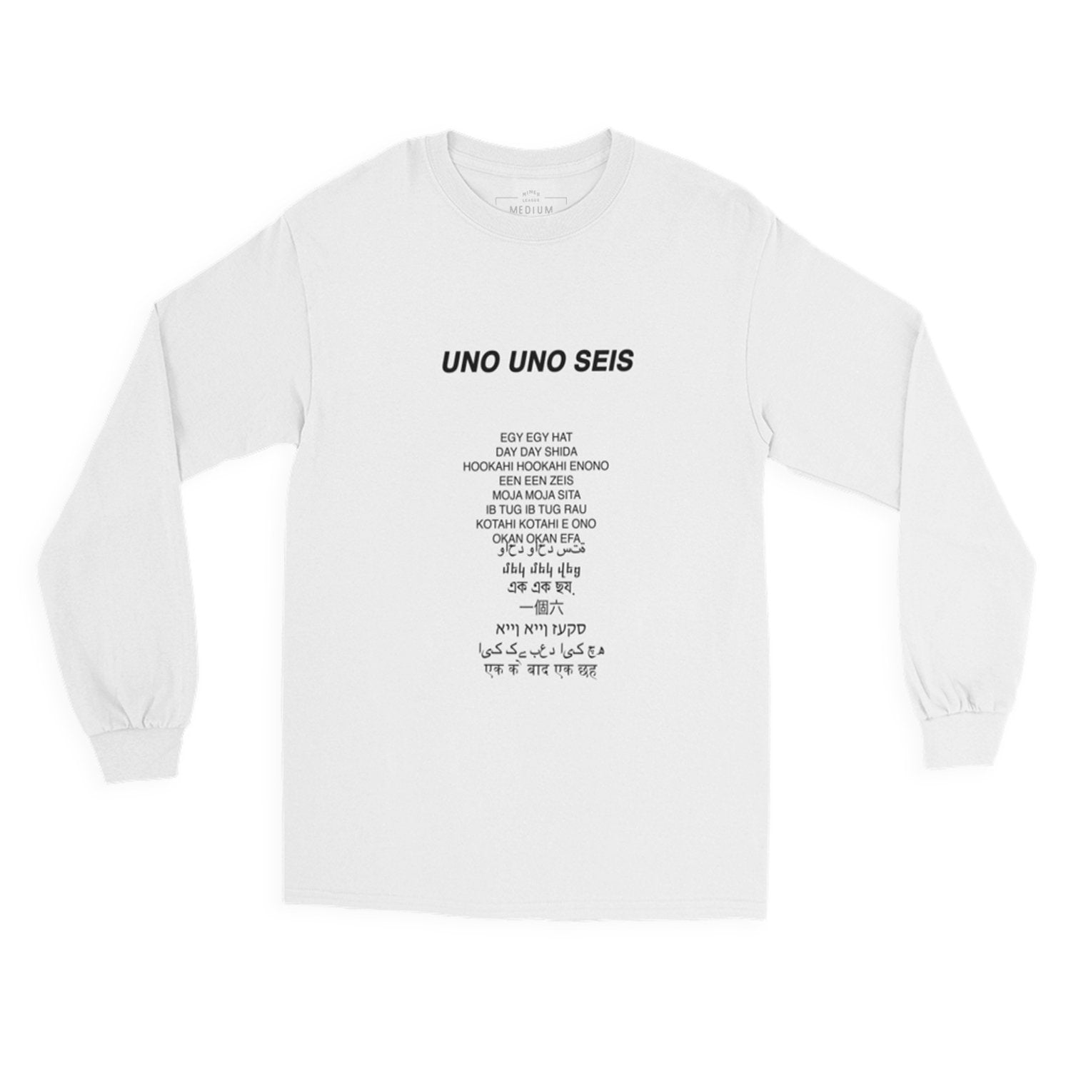 'Global Type Numbers' Long Sleeve Tee