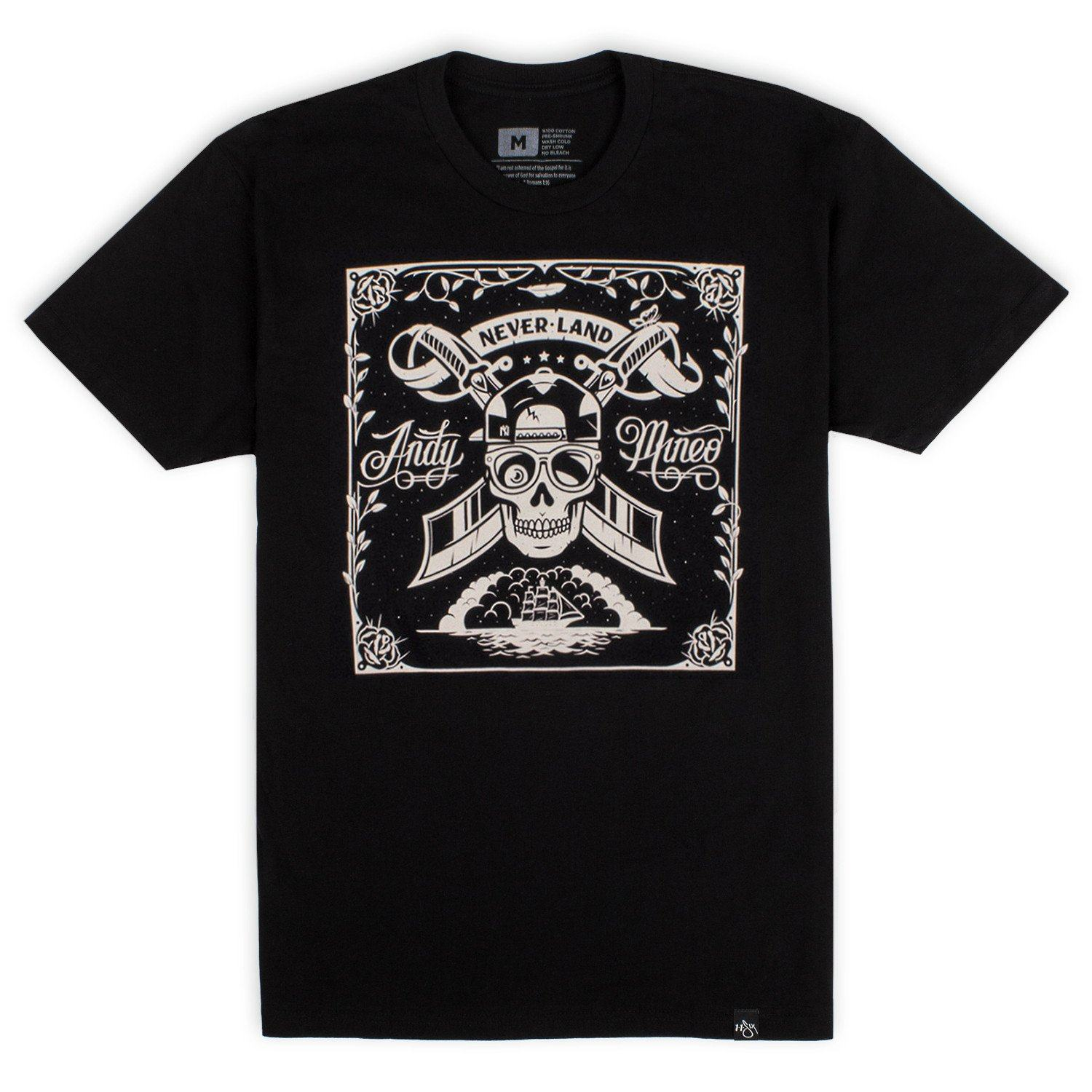 'Never Land Skull' T-Shirt
