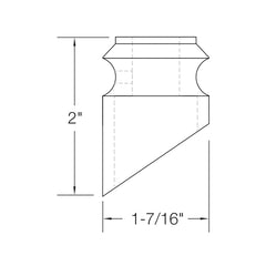 "Baluster Shoe - Slant Shoe w/ Screw - Square 5/8"" (Set of 10) 2G904"