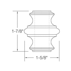 "Baluster Shoe - Knuckle w/ Screws - Square 5/8"" (Set of 10) 2GKNCK"