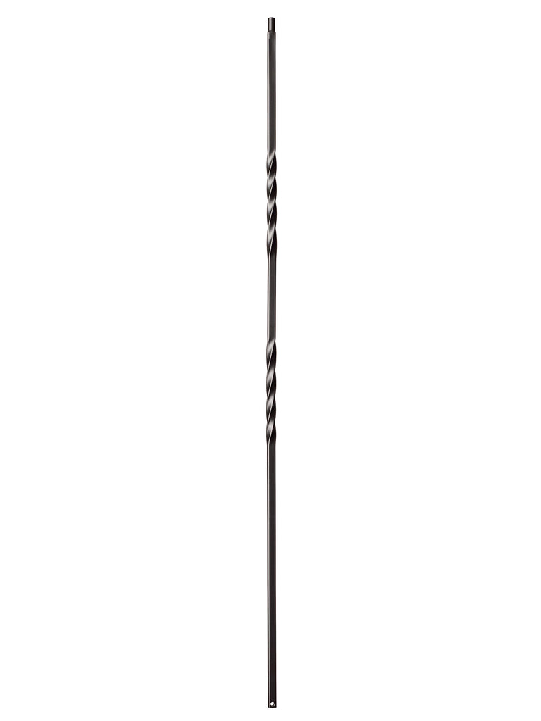 "Iron Baluster - 1/2"" Square - 9002 - Double Twist"