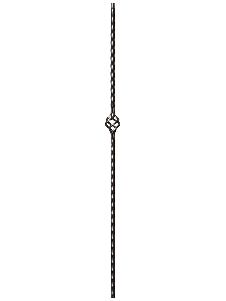 "Iron Baluster - 9/16"" Hammered - 9027 - Hammered Edge Single Basket"