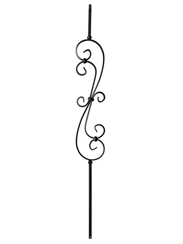 "Iron Baluster - 1/2"" Square - 9081 - S Scroll Narrow"