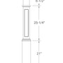 "Box Newel 991FP - Flat Panel (6-1/4"")"