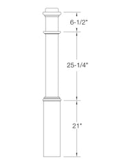 "Box Newel 6-1/4"" 991PL (Plain)"