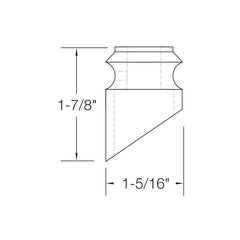 "Baluster Shoe - Slant Shoe No Screw - Square 1/2"" - SH804"