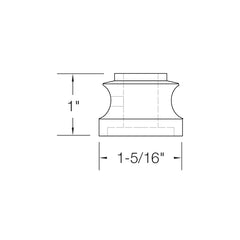 "Baluster Shoe - Flat Shoe w/ Screw - Square 1/2"" (Set of 10) SH900"