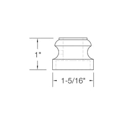 "Baluster Shoe - Flat Shoe w/ Screw - Square 1/2"" - Hammered - SH901"