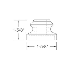 "Baluster Shoe - Flat Shoe w/ Screw - Round 1/2"" (Set of 10) SHR900"