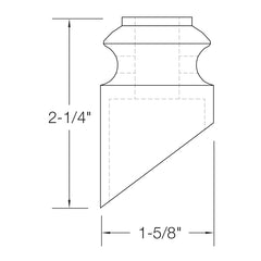 "Baluster Shoe - Slant Shoe w/ Screw - Round 1/2"" - SHR904"