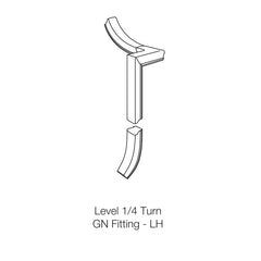 Fitting 50 - Level Quarter Turn Gooseneck Fitting (Left Hand)