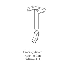 Fitting 90-2 - Landing Return Riser with No Cap 2-Rise (Left Hand)