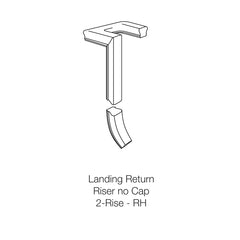 Fitting 95-2 - Landing Return Riser with No Cap 2-Rise (Right Hand)