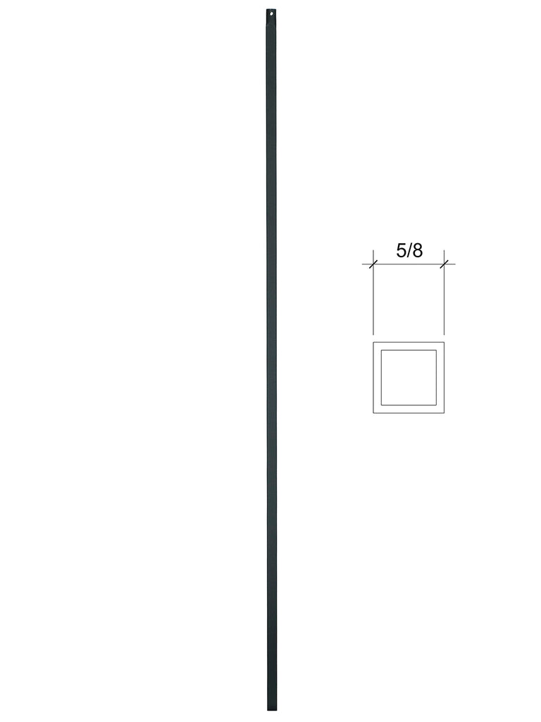 "Iron Baluster - 5/8"" Square (Plain) 2G01"