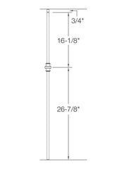 "Iron Baluster - 5/8"" Square (Plain - Single Knuckle) 2G60"