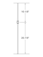 "Iron Baluster - 5/8"" Round (Ball - Single Ball) 2GR22"