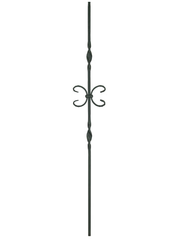 "Iron Baluster - 1/2"" Square (Ribbon - Single Butterfly) T10"