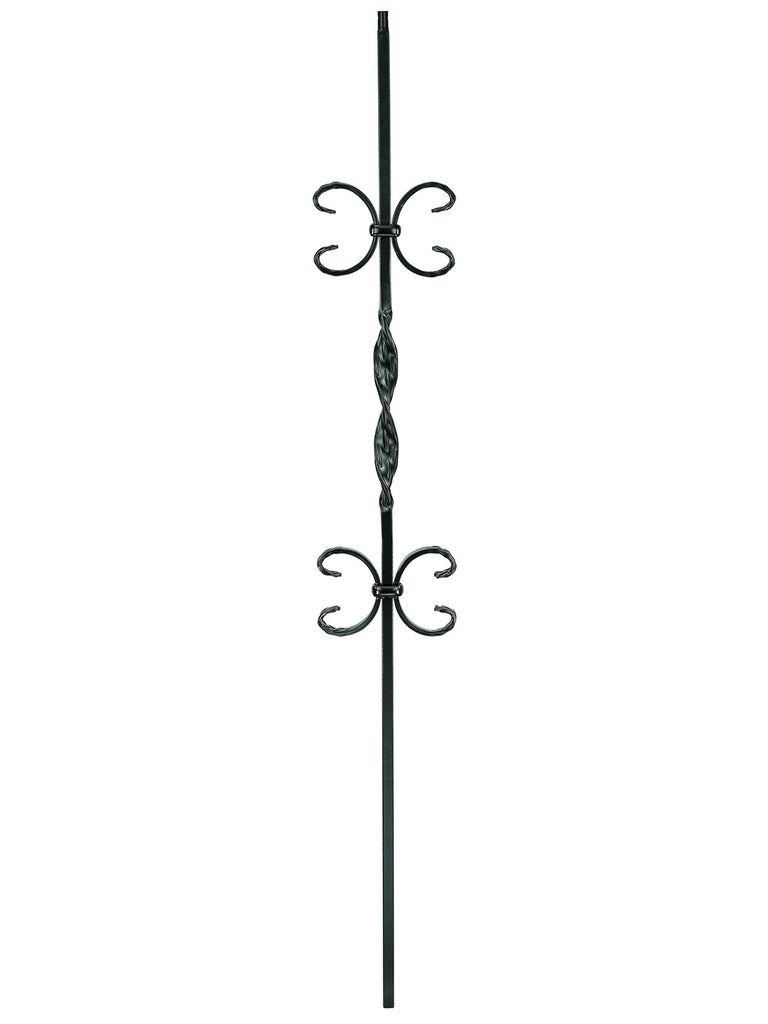 "Iron Baluster - 1/2"" Square (Ribbon - Double Butterfly (T11)"