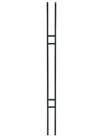 "Iron Baluster - 1/2"" Square (Contemporary - Craftsman Double Panel) T19"