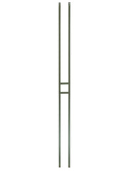 "Iron Baluster - 1/2"" Square (Contemporary - Craftsman Single Panel) T20"