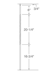 "Iron Baluster - 1/2"" Square (Twist - Single Twist: 20"" Long) T27"