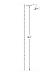"Iron Baluster - 1/2"" Square (Gothic - Plain) T40"