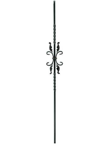 "Iron Baluster - 1/2"" Square (Scroll - Feather Scroll) T55"
