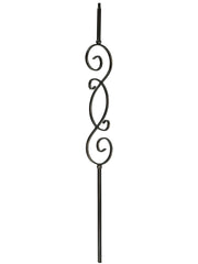 "Iron Baluster - 1/2"" Square (Scroll - S Scroll) T57"