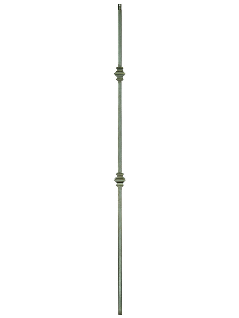 "Iron Baluster - 1/2"" Square (Contemporary - Double Knuckle) T61"