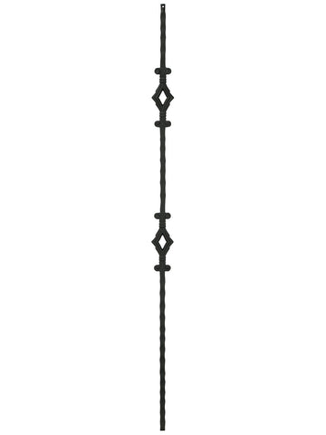 "Iron Baluster - 1/2"" Square (Tuscan - Double Diamond) T94"