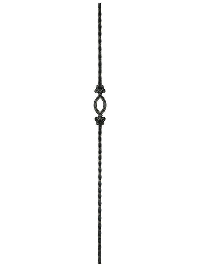 "Iron Baluster - 1/2"" Square (Tuscan - Single Oval) T95"