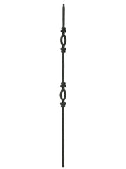 "Iron Baluster - 1/2"" Square (Tuscan - Double Oval) T96"